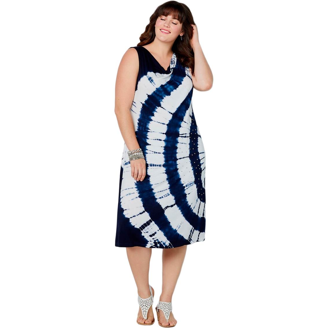 Avenue Plus Size Tie Dye Dress With Stud Trim | Dresses ...