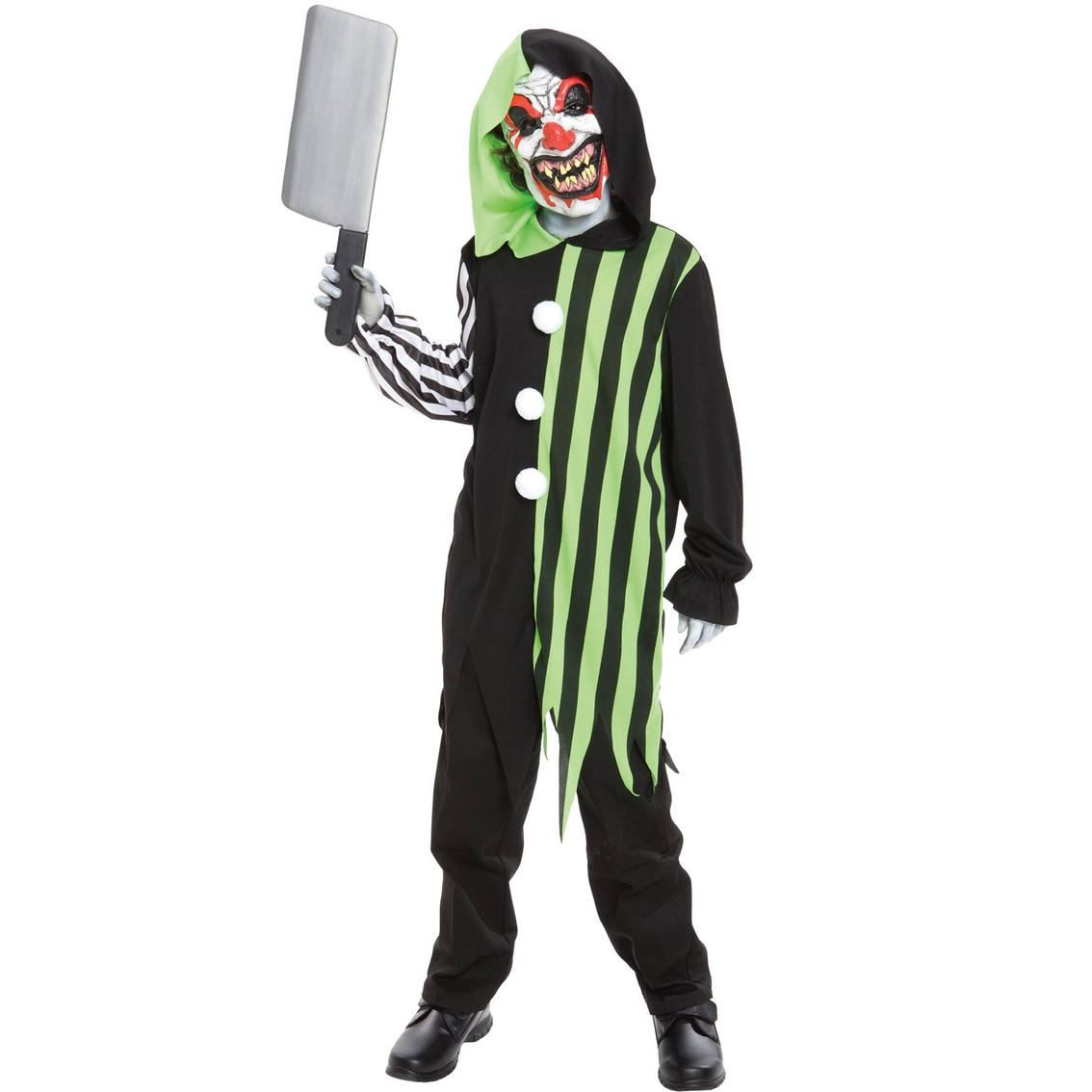 Cleaver The Clown Child Costume Hooded Robe /& Mask Halloween Seasonal Visions