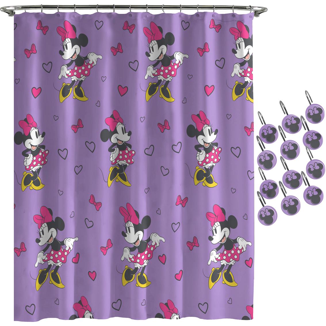 Minnie Purple Love Shower Curtain Hook Set Shower