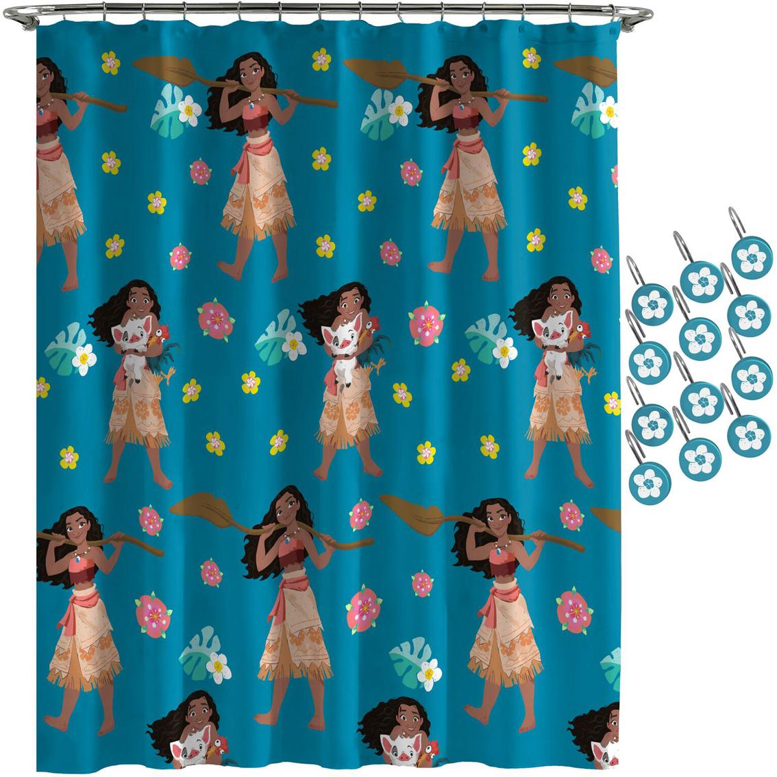 Moana Flower Power Shower Curtain Hook Set Shower