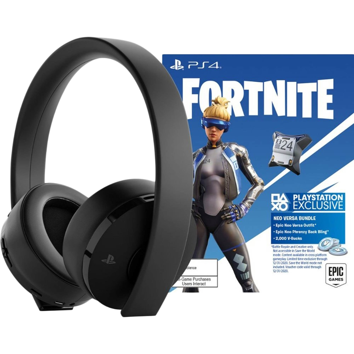 Sony Fortnite Neo Versa Gold Wireless Headset Bundle Pc Gaming Accessories Home Office School Shop The Exchange
