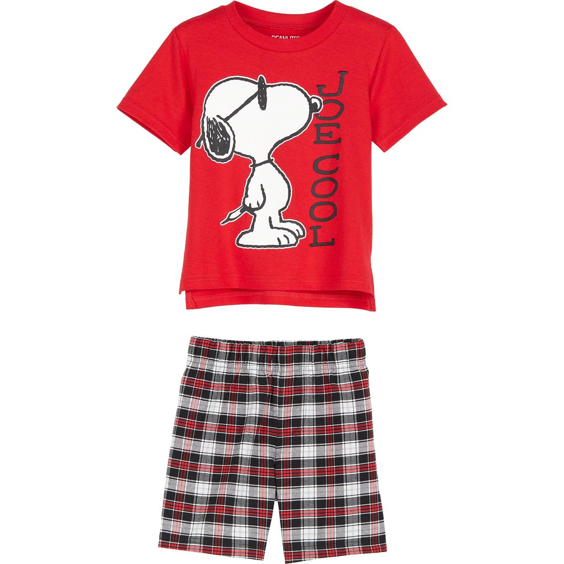 Peanuts Boys Toddler Easter 2 Piece Cotton Set