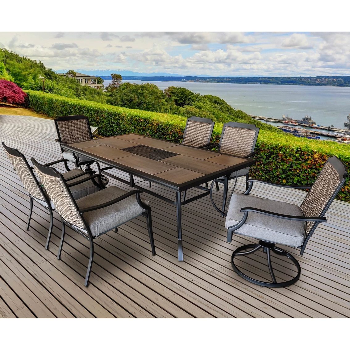 Courtyard Creations St. Louis 7 Pc. Outdoor Dining Set