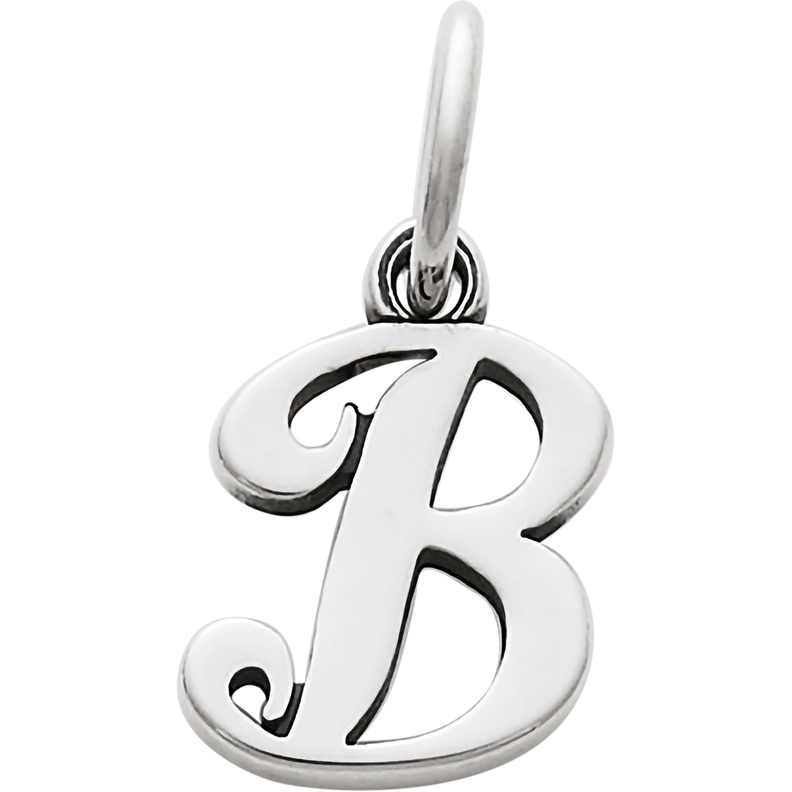 James Avery Small Script Initial B Charm Silver Charms