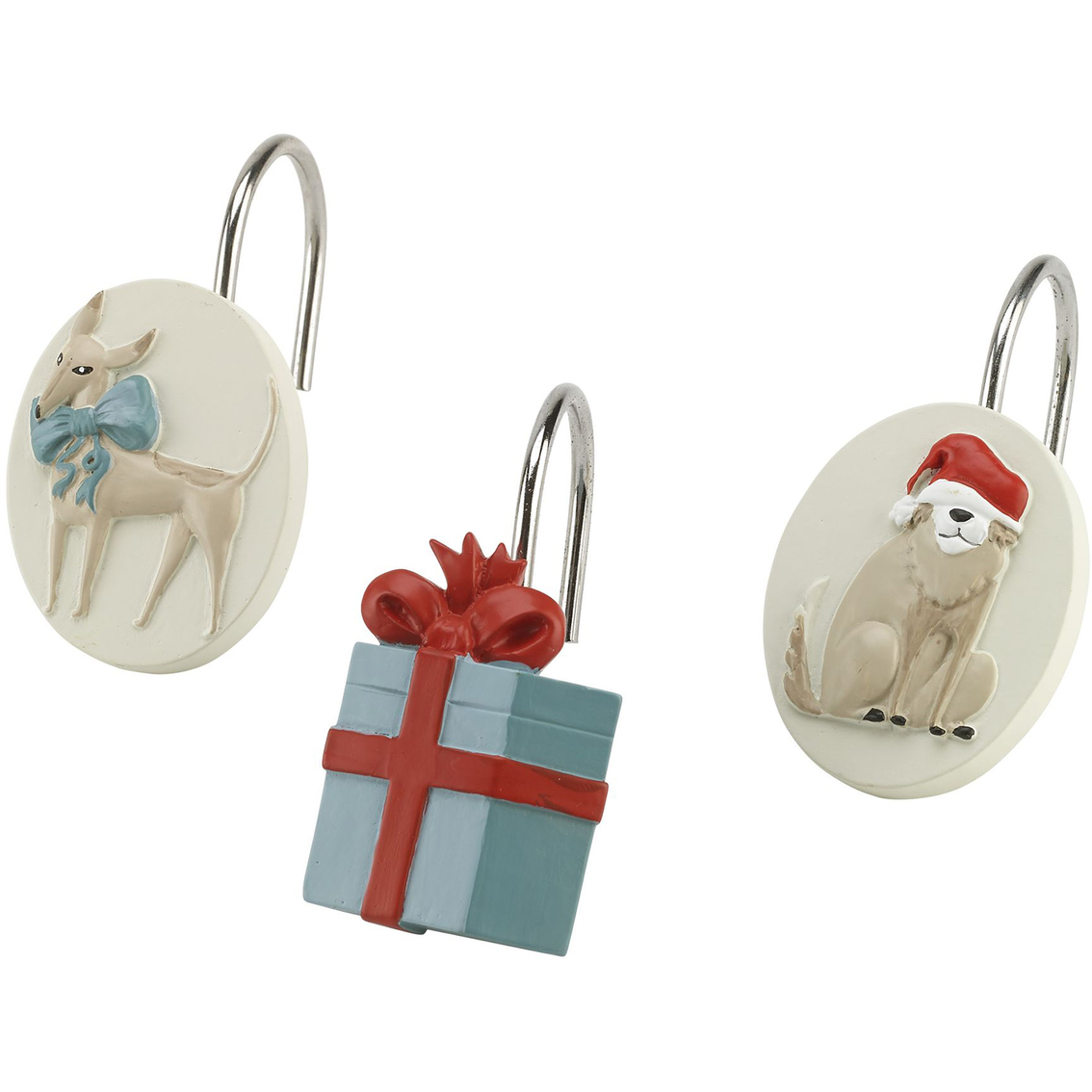 Avanti Holiday Dogs Shower Hooks Shower Curtains Hooks