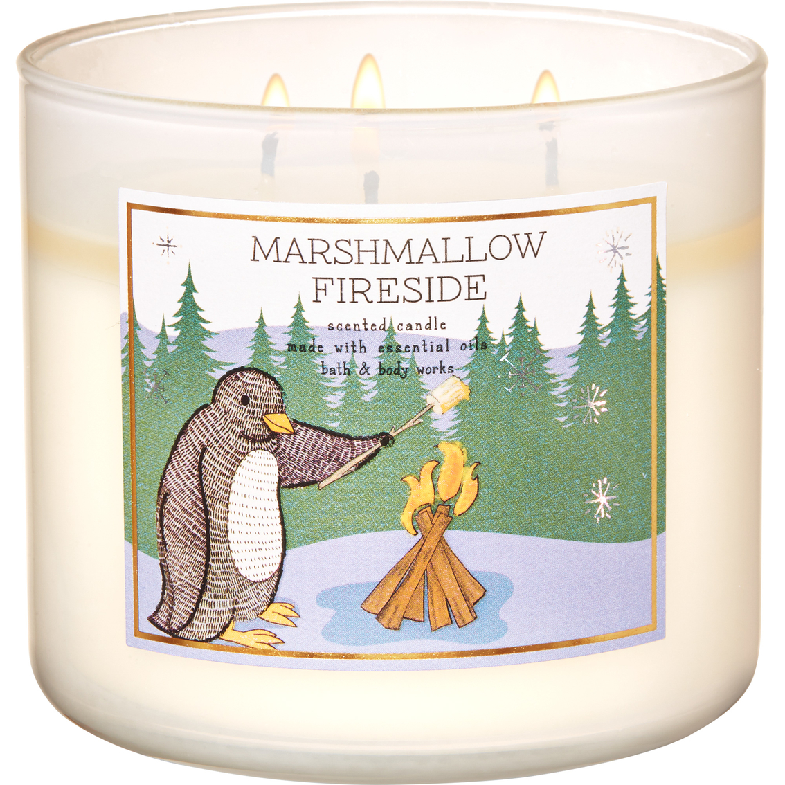Bath /& Body Works 3-Wick Candle in Marshmallow Fireside