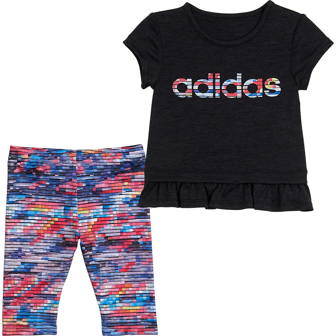 Adidas Infant Girls Always On Tee And Capri Tights 2 Pc Set Baby Girl 0 24 Months Baby Toys Shop The Exchange
