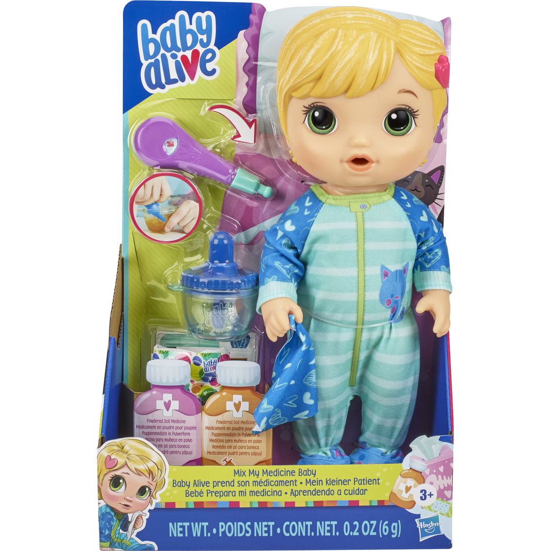 Baby Alive Mix My Medicine Baby Doll Kitty Cat Pajamas Dolls Baby Toys Shop The Exchange