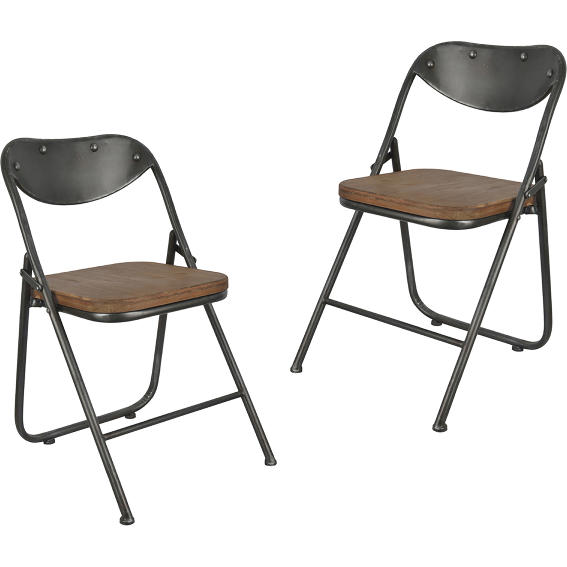 Decor Therapy Vintage Wood Seat Folding Chair 2 Pk Dining