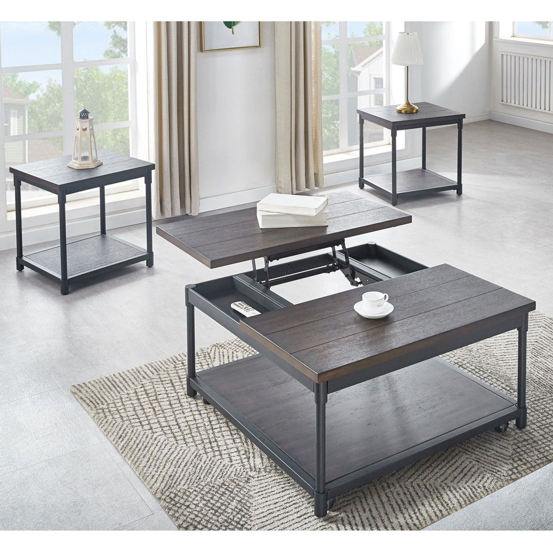 steve silver prescott lift top square cocktail table with