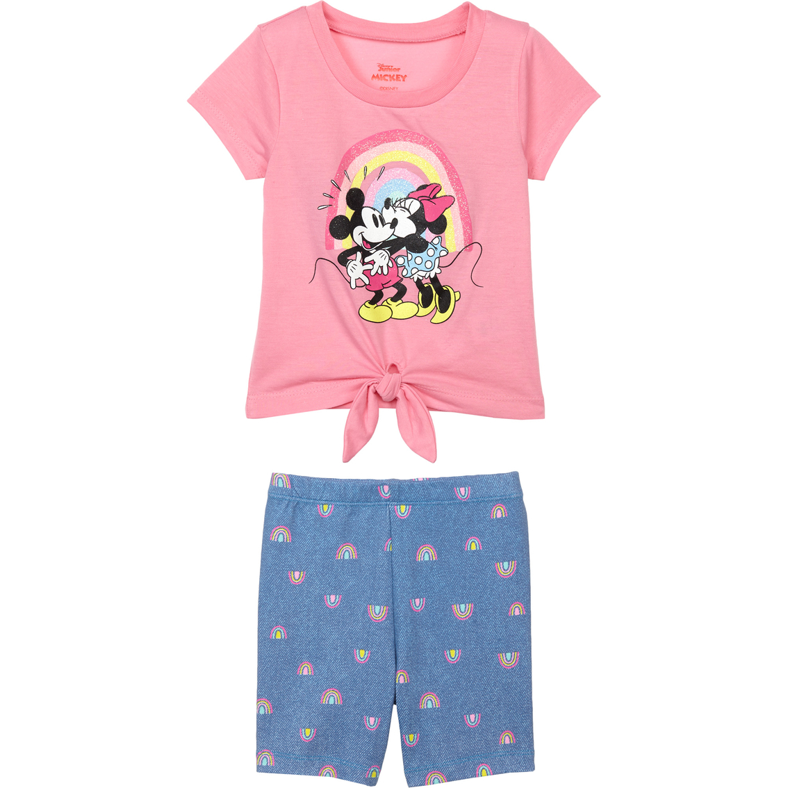Disney Minnie Mouse Girls T-Shirt and Bike Shorts Set