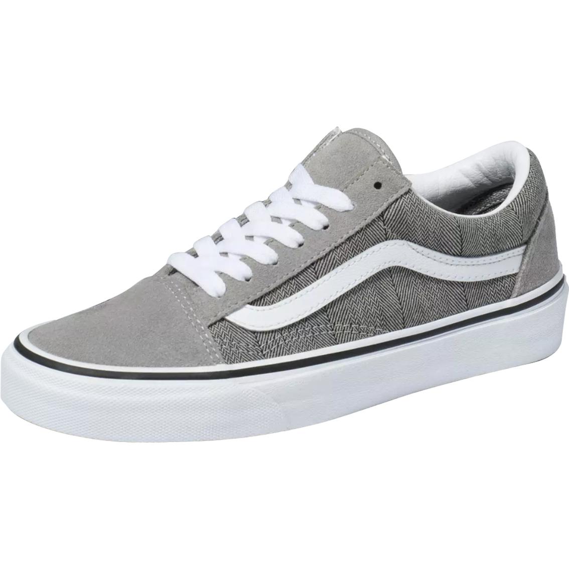 Vans Women's Old Skool Shoes Herringbone Gray