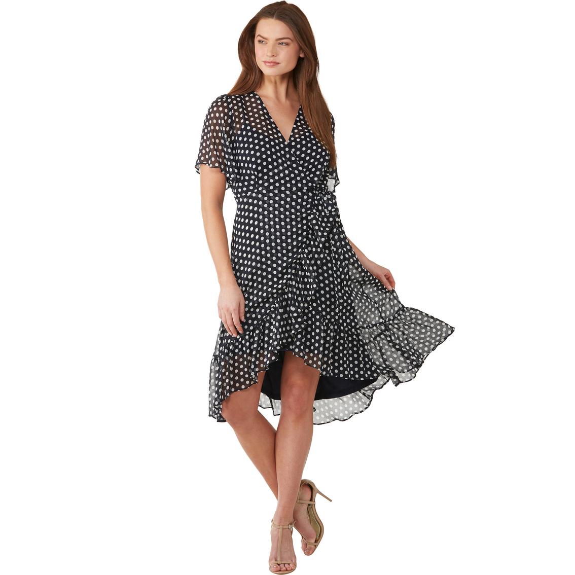 Calvin Klein Ruffle Hem Wrap Dress Dresses Clothing Accessories Shop The Exchange