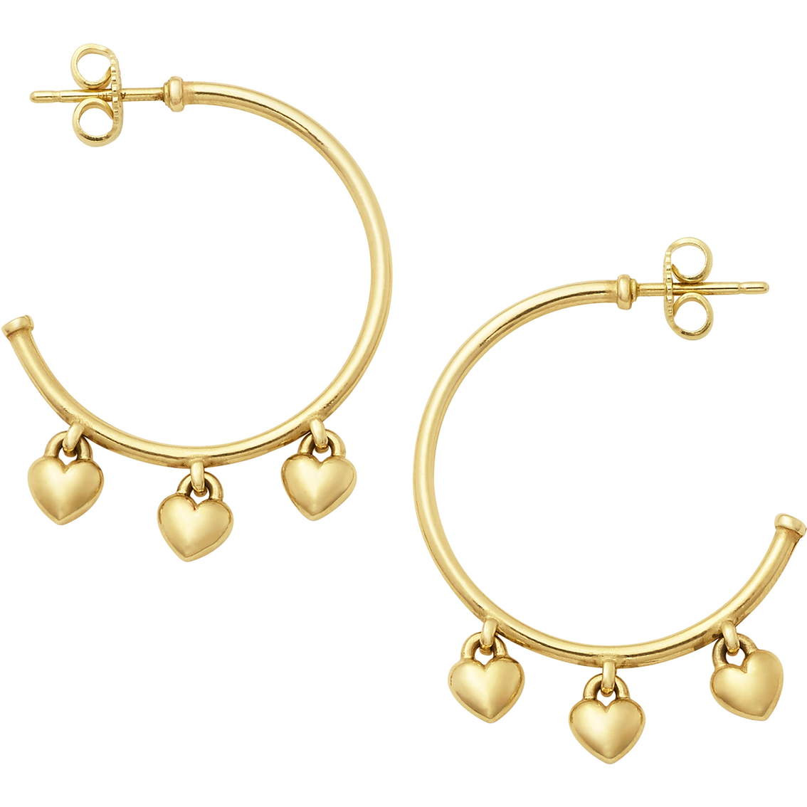 James Avery Heart Drops Hoop Ear Posts Silver Earrings Jewelry Watches Shop The Exchange