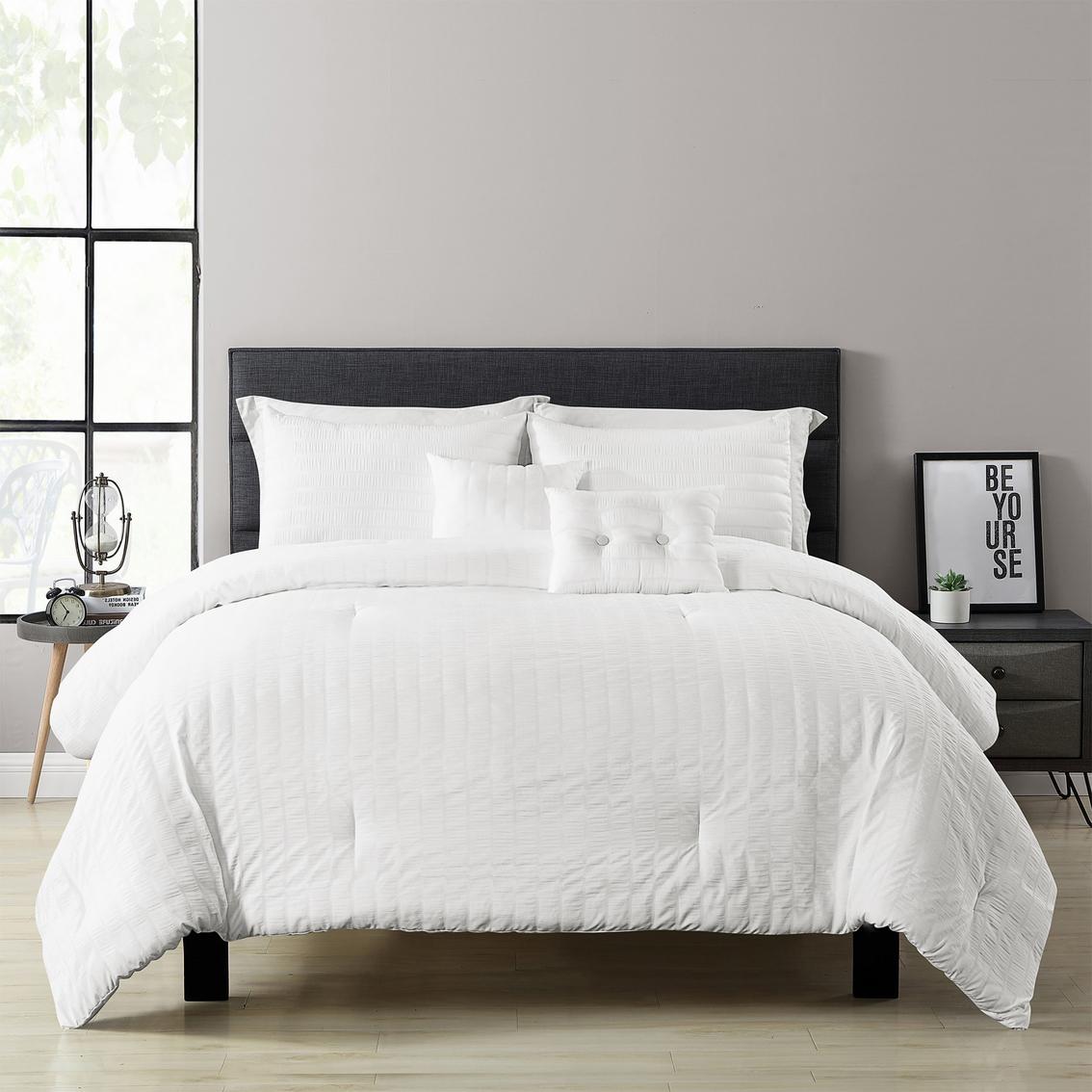 Lush Decor Farmhouse Seersucker 5 Pc Comforter Set Bedding Sets Household Shop The Exchange