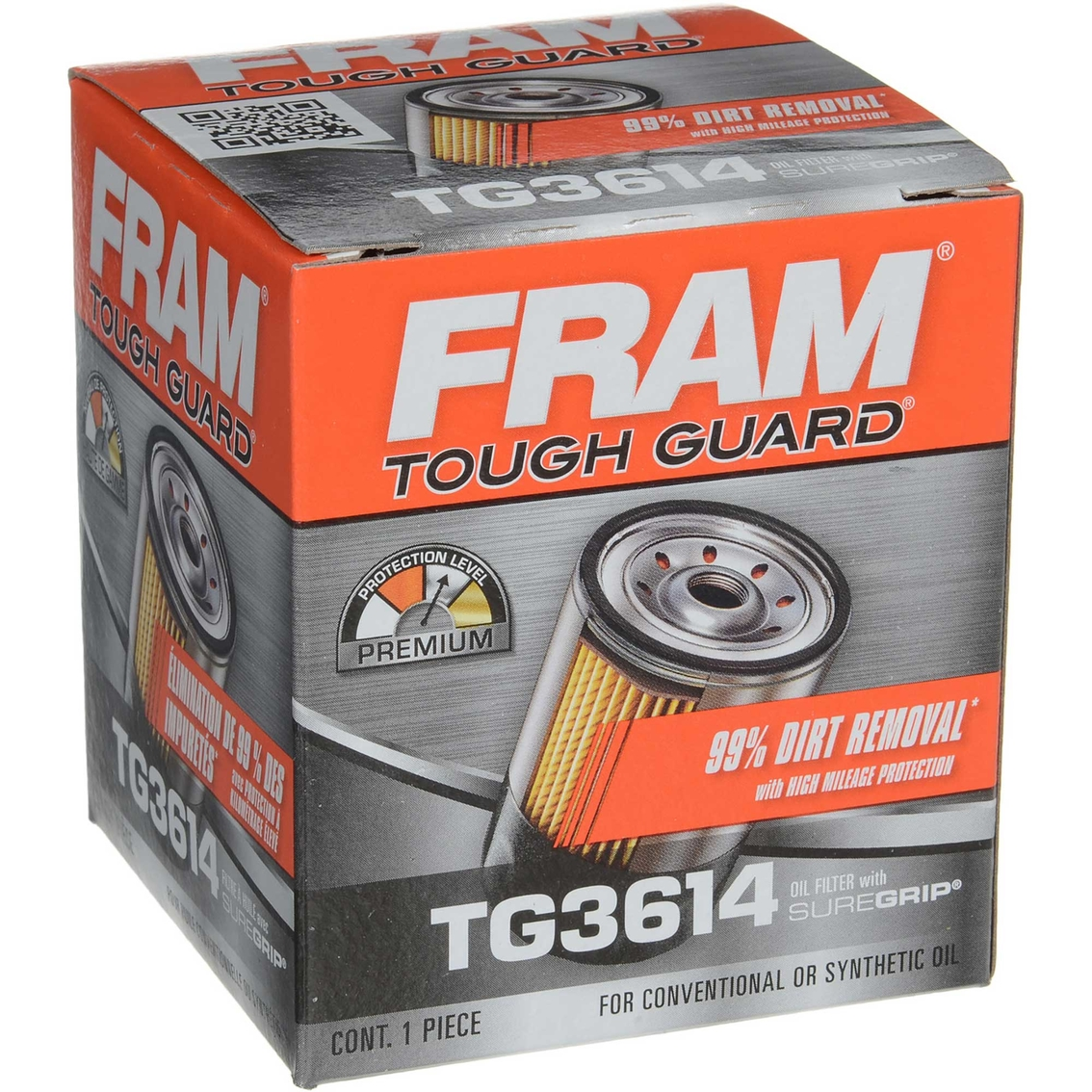 Fram Tough Guard Spin On Oil Filter, Tg3614   Replacement