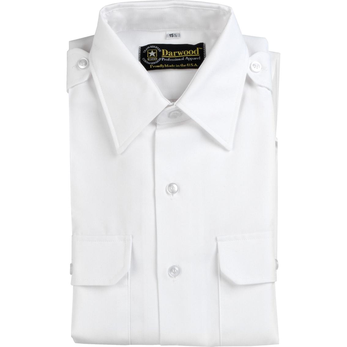 Darwood Short Sleeve Tapered Shirt White Asu Shirts Military