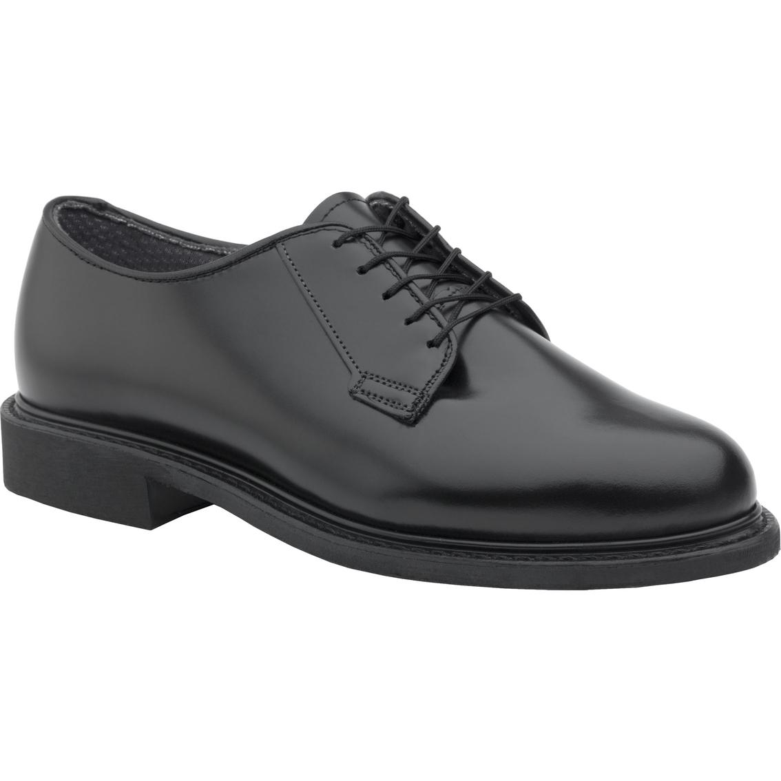 Dlats Men S Military Black Leather Oxford Dress Shoes Low Quarters