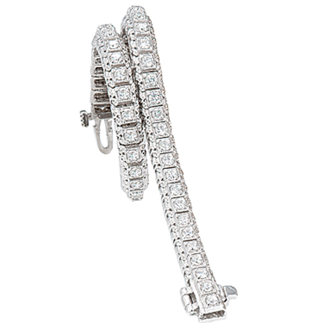 bed458cc41fcd 14k White Gold 2 Ctw Vintage Diamond Tennis Bracelet | Diamond ...