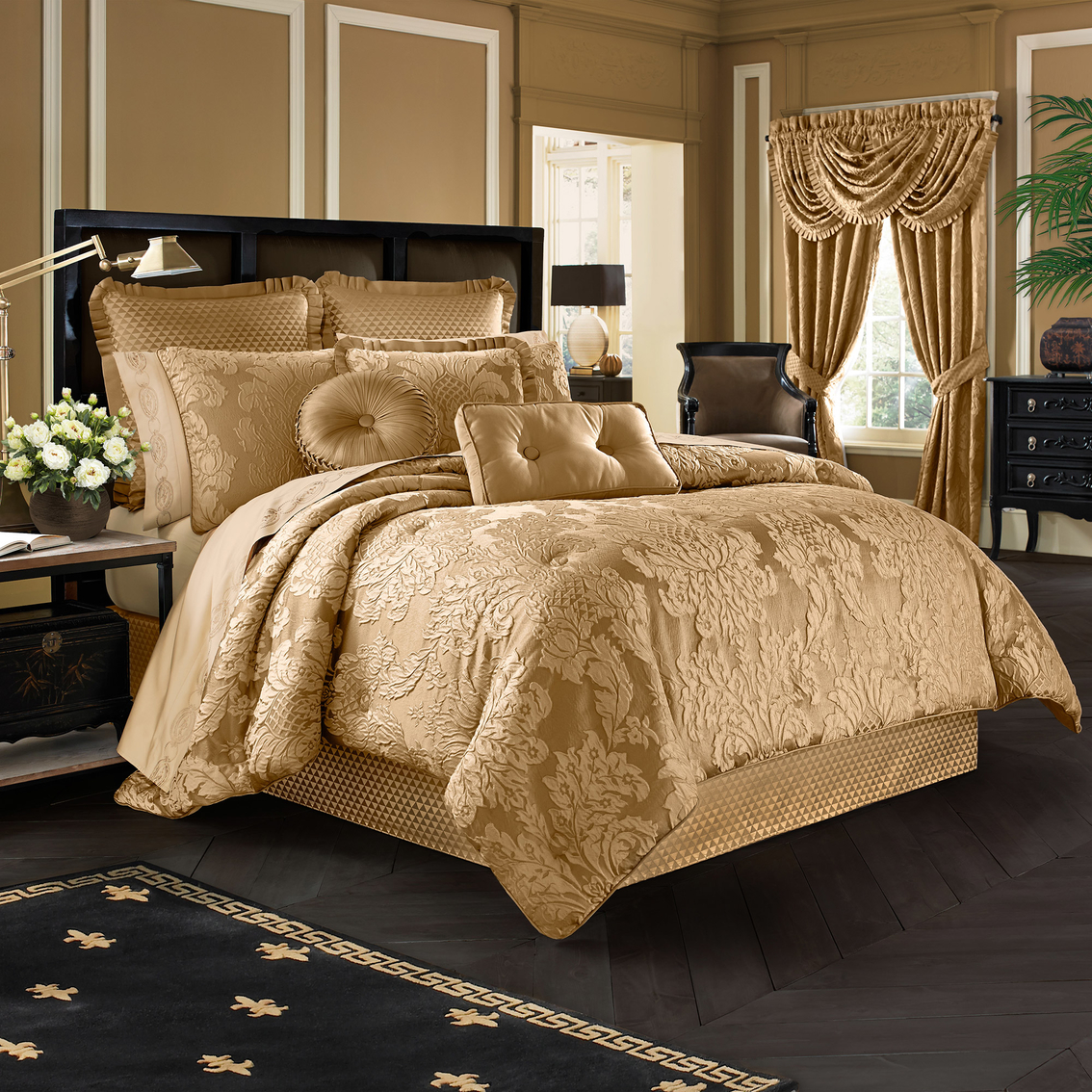 J Queen New York Concord Gold Comforter Set Bedding Sets Household Shop The Exchange