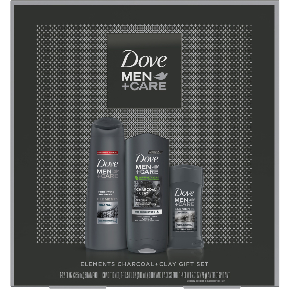 Dove Men Care Elements Charcoal Clay 3 Pc Gift Set Body Bath Gift Sets Beauty Health Shop The Exchange