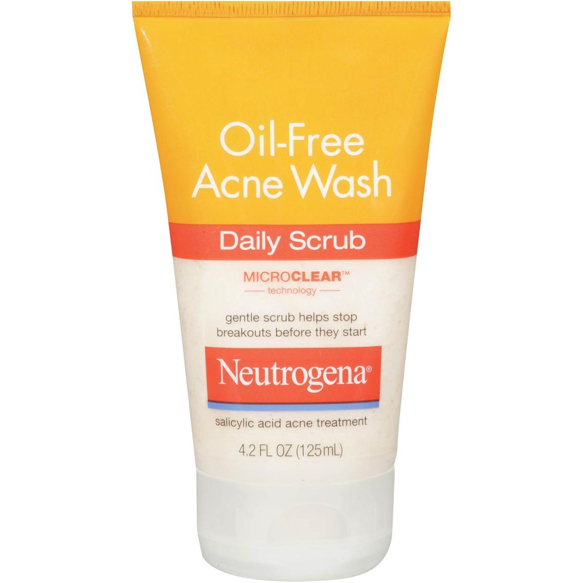 Neutrogena Oil Free Acne Wash Daily Scrub Acne Treatments