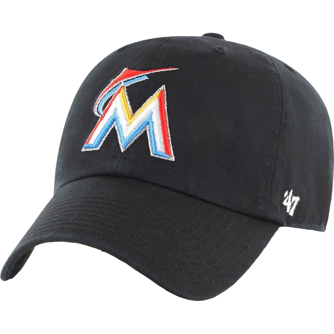 47 brand mlb miami marlins s clean up baseball cap