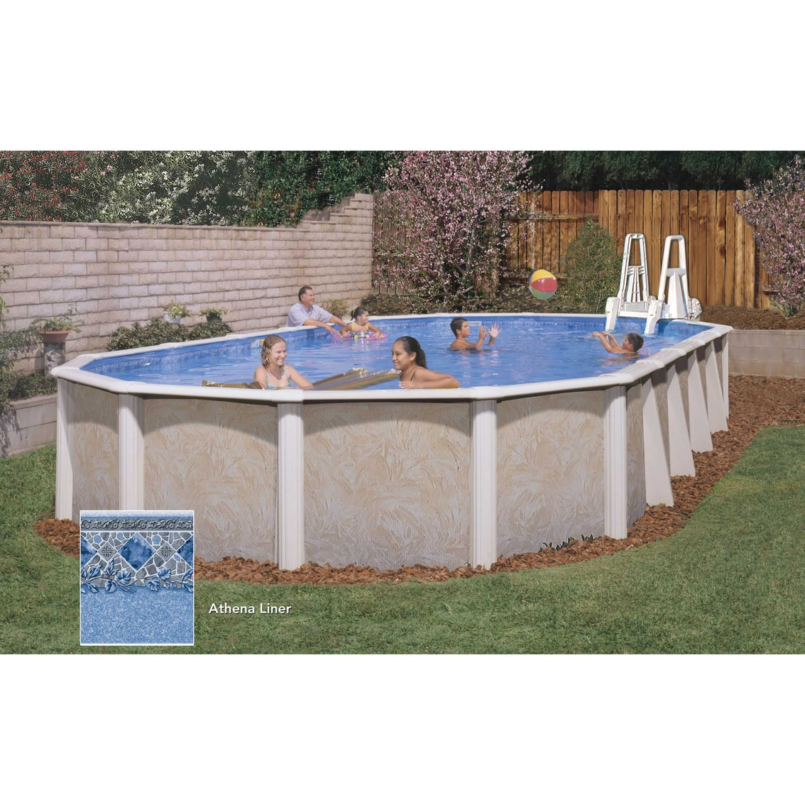 Lomart whispering wind ii oval above ground swimming pool for Above ground pool deals