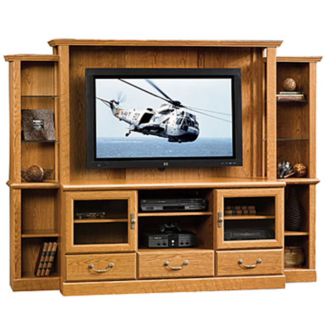Sauder orchard hill home theater media furniture home for Hometown furniture exchange