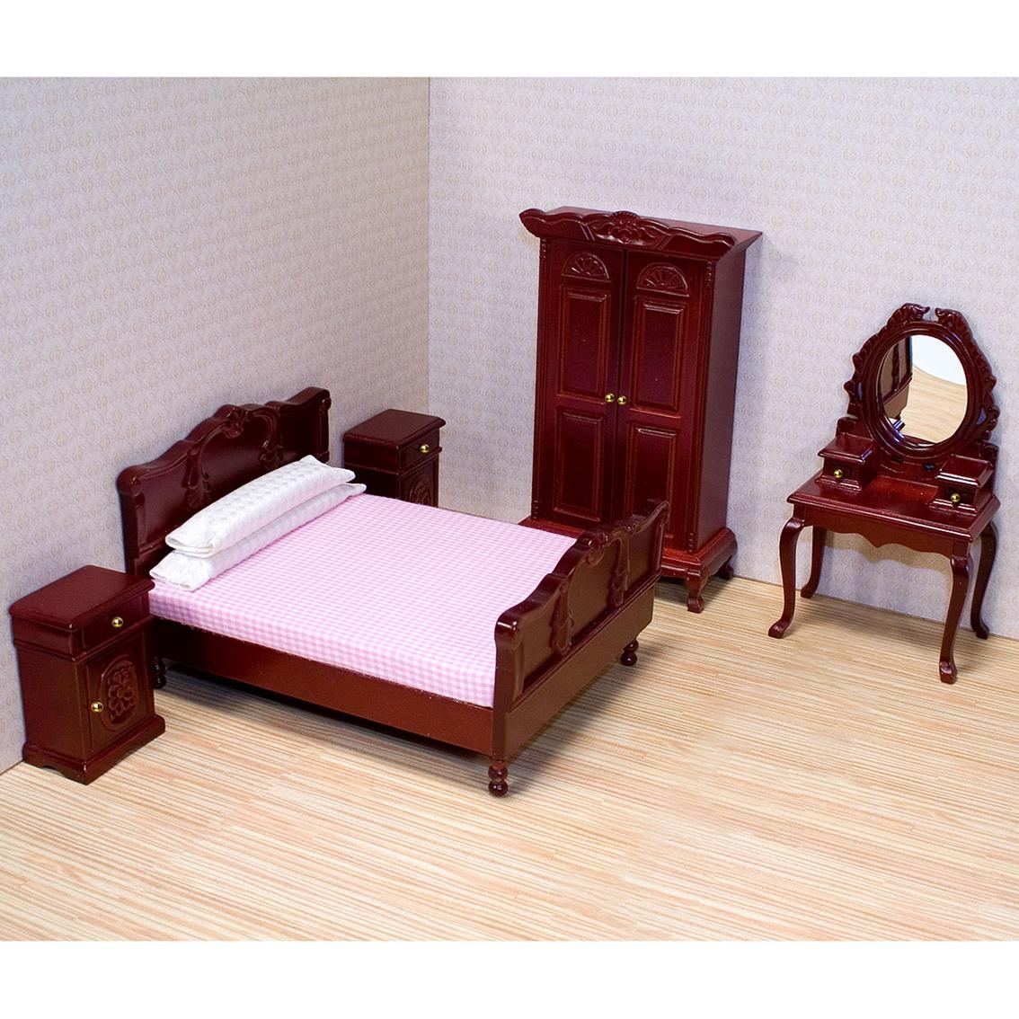 Melissa U0026 Doug 5 Pc. Dollhouse Bedroom Furniture