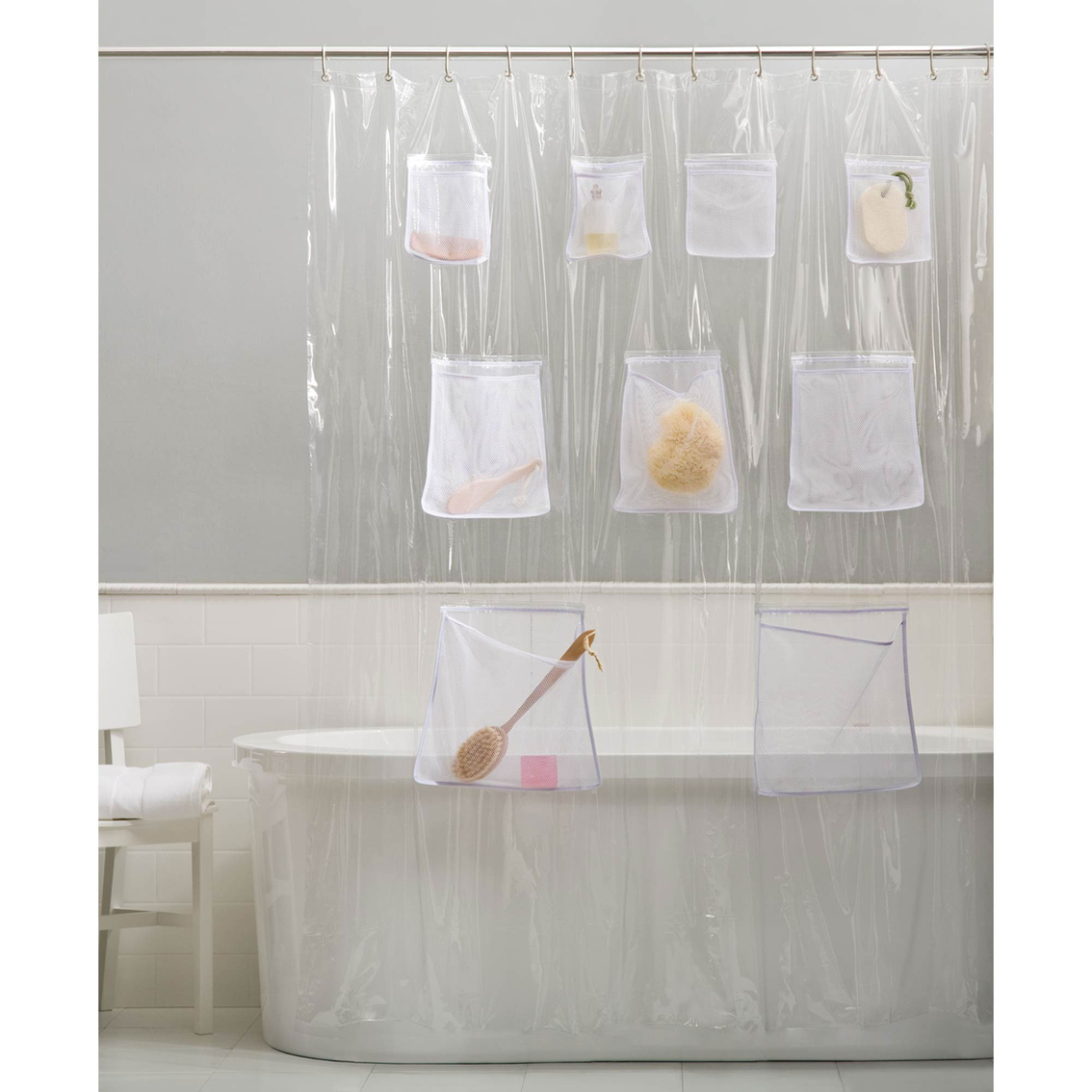 Maytex Mesh Pockets Ii Peva Shower Curtain