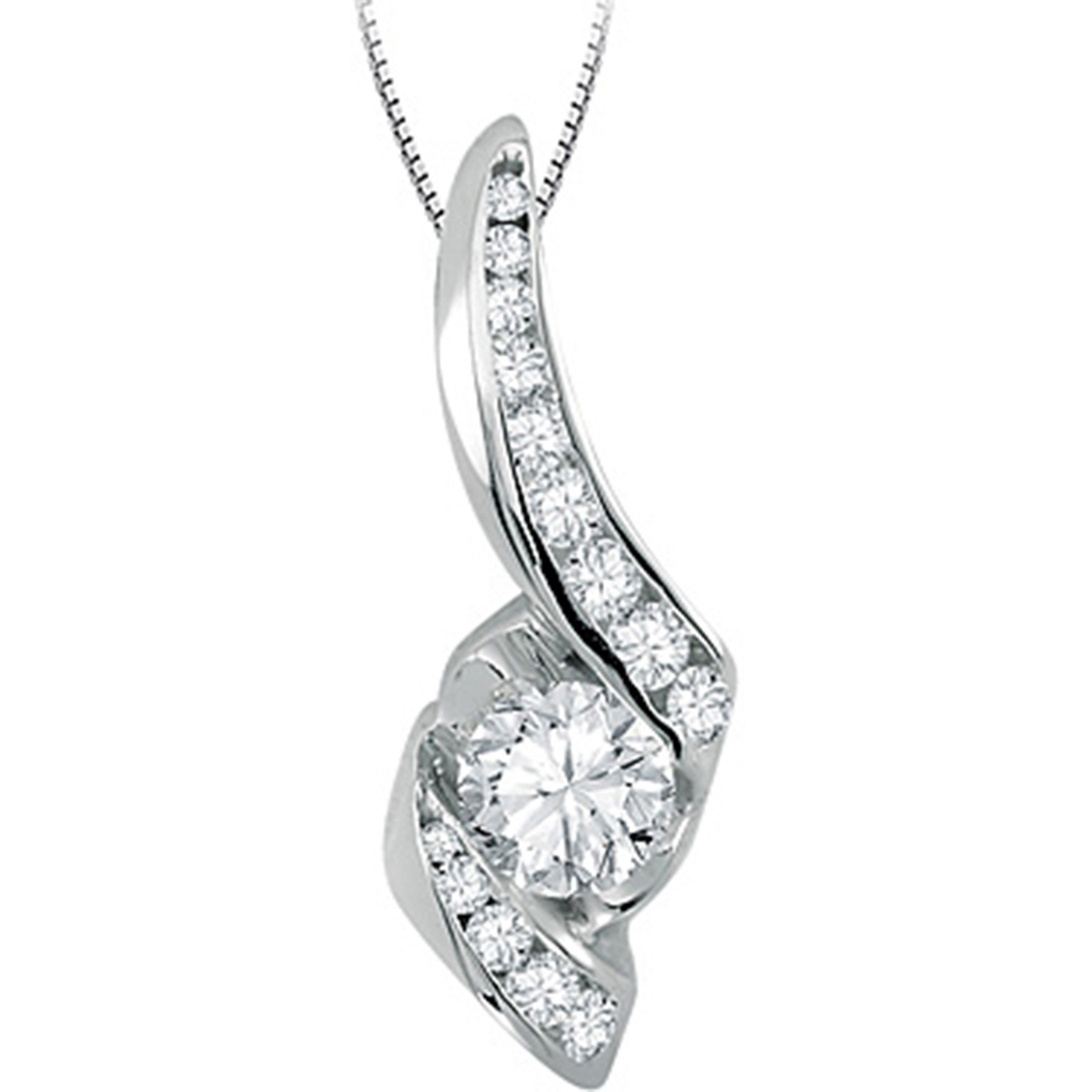 Sirena 14k white gold 12 ctw diamond pendant diamond fashion sirena 14k white gold 12 ctw diamond pendant audiocablefo