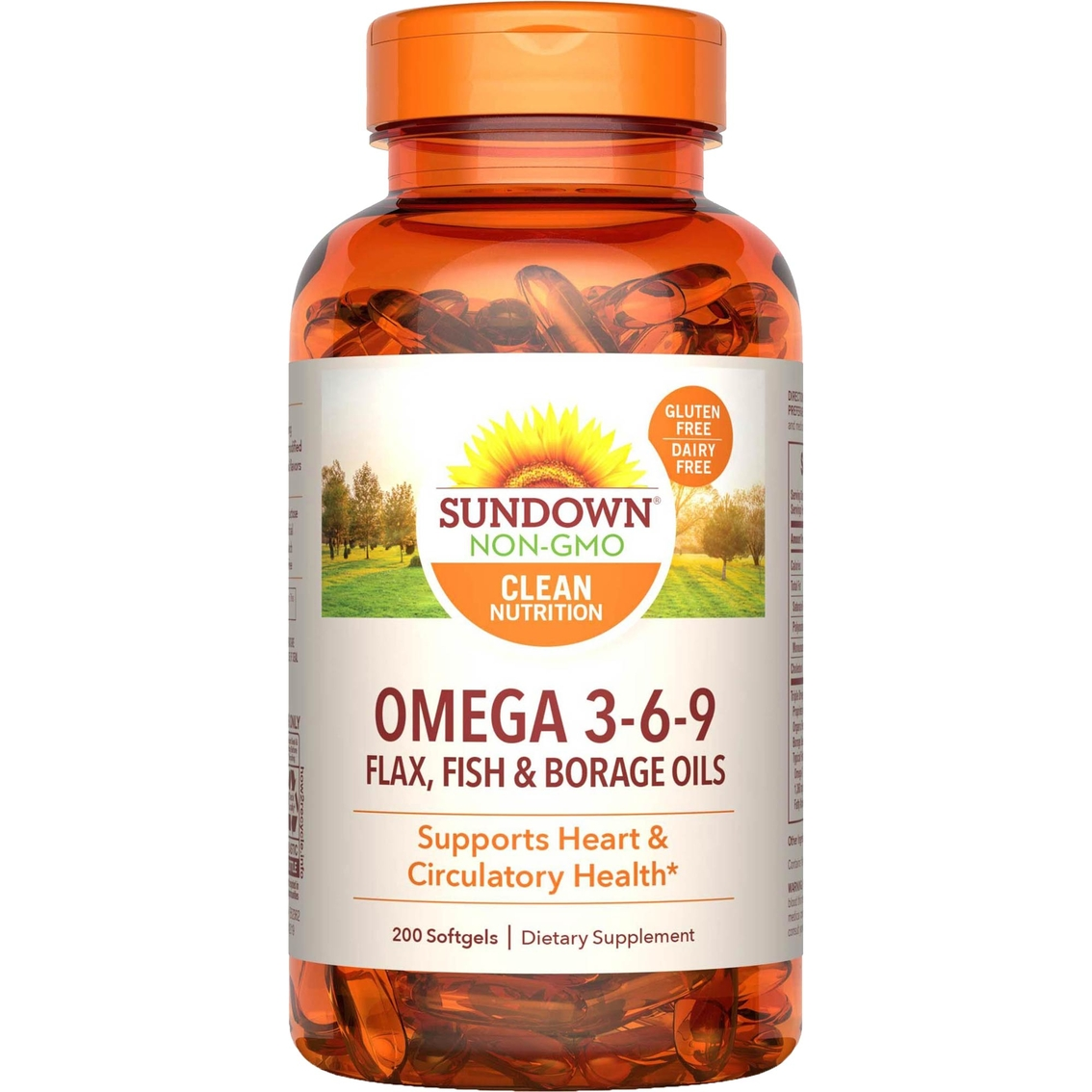 Sundown Naturals Fish Oil Triple Omega 3 6 9 Softgels 200 Pk