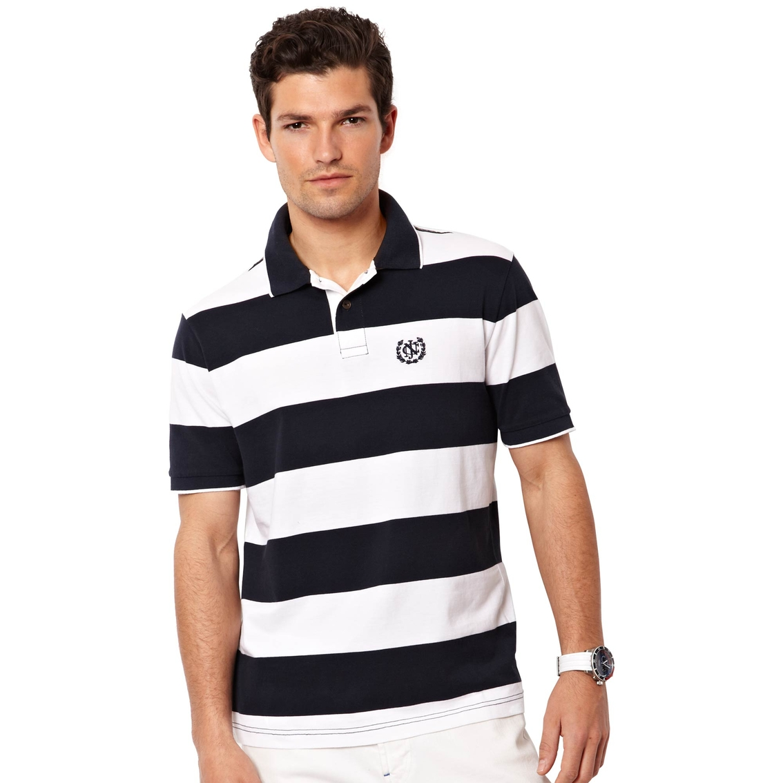 Nautica Rugby Striped Polo Shirt Polos Apparel Shop The Exchange