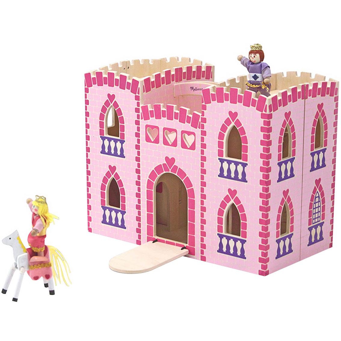 Melissa Doug Fold And Go Princess Castle Dollhouses