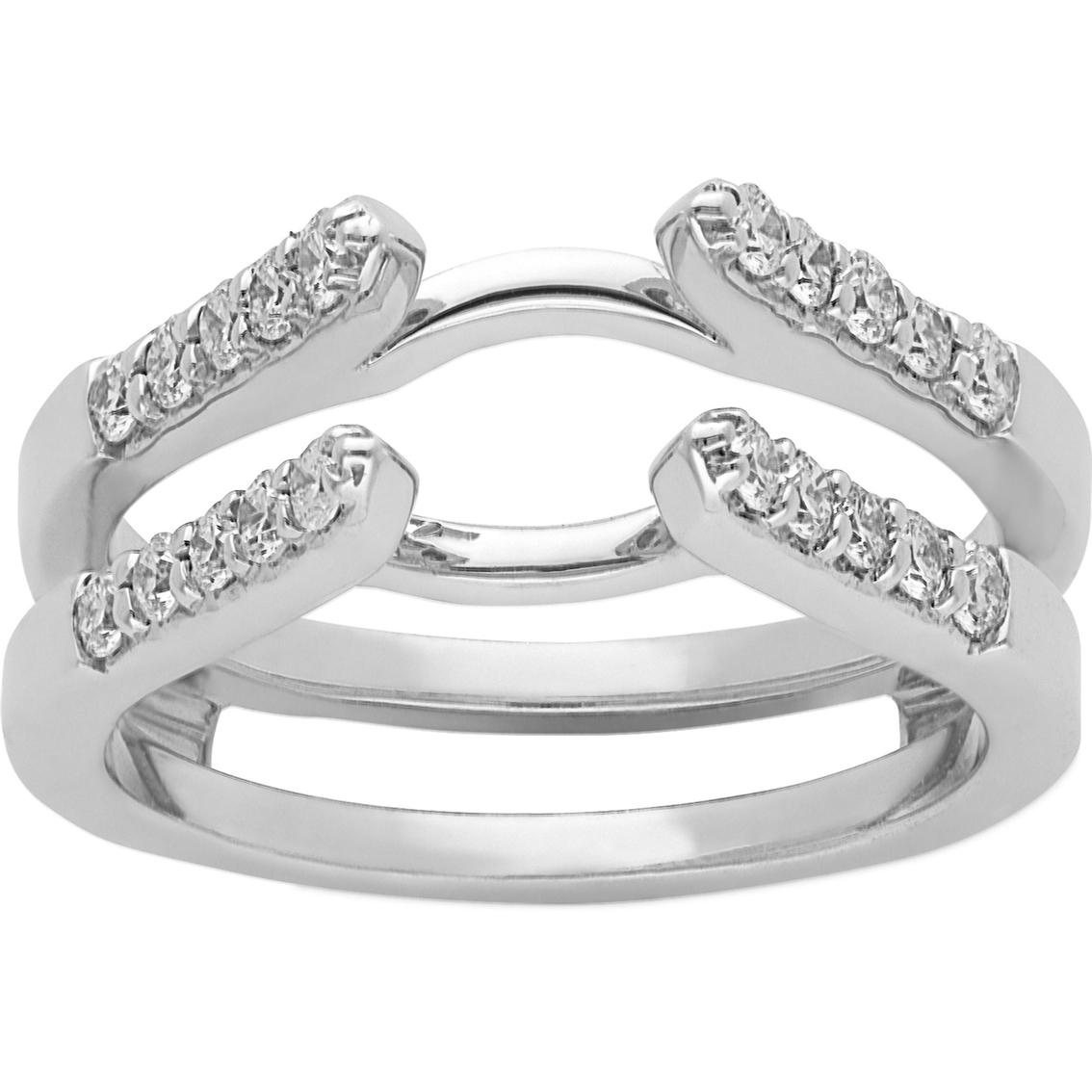 14k white gold 1 2 ct tdw ring guard size 7