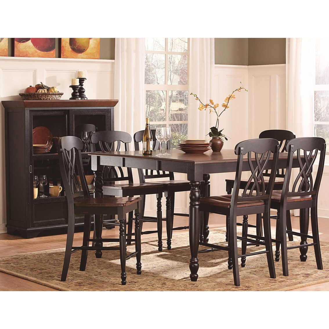 Homelegance Ohana 5 Pc Counter Height Dining Set Dining Sets