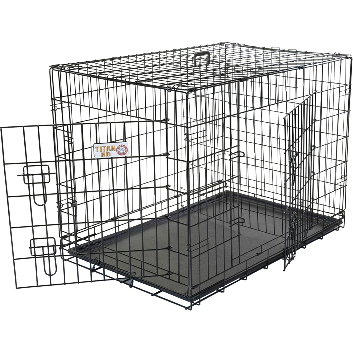 Majestic Pet Double Door Folding Dog Crate | Carriers & Containment ...