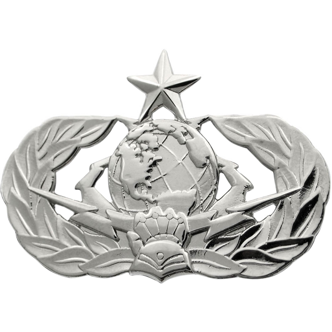 Air Force Senior Cyberspace Support Badge Mirror Finish