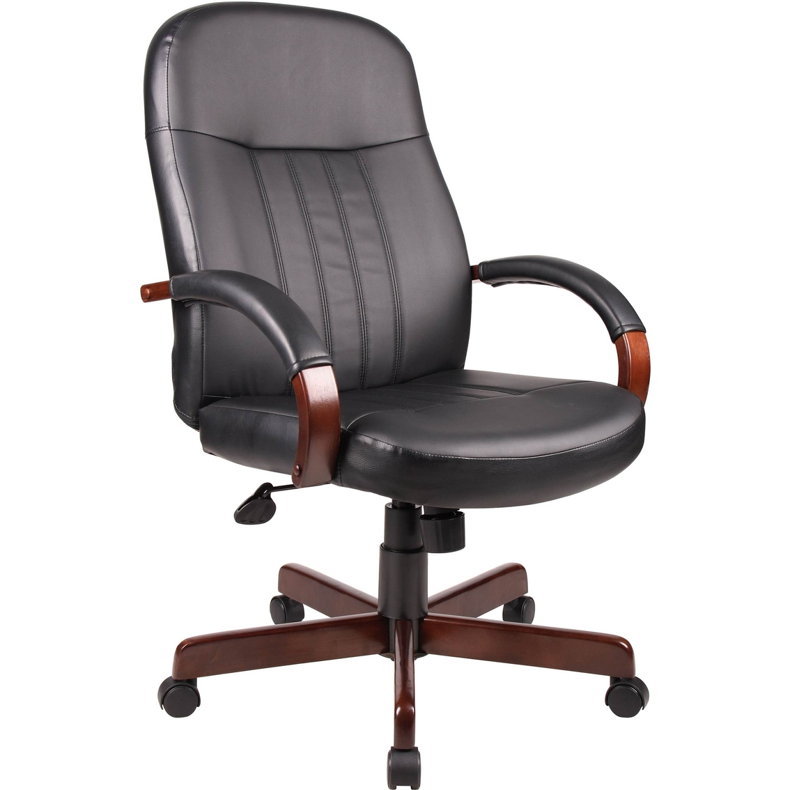presidential seating wood and leather executive office chair office chairs more shop the. Black Bedroom Furniture Sets. Home Design Ideas