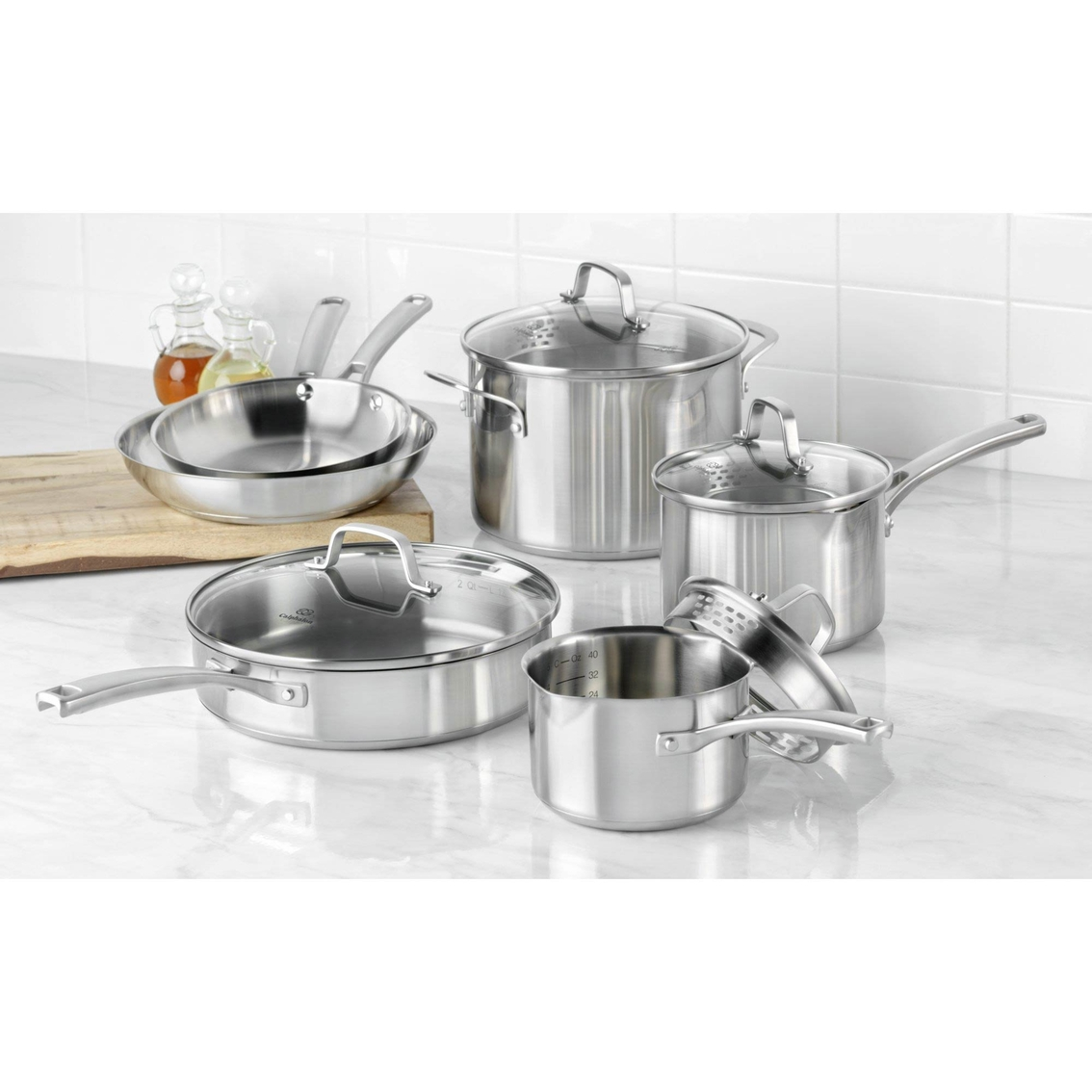 Calphalon classic ss 10 pc set stainless steel home for Kitchen set classic