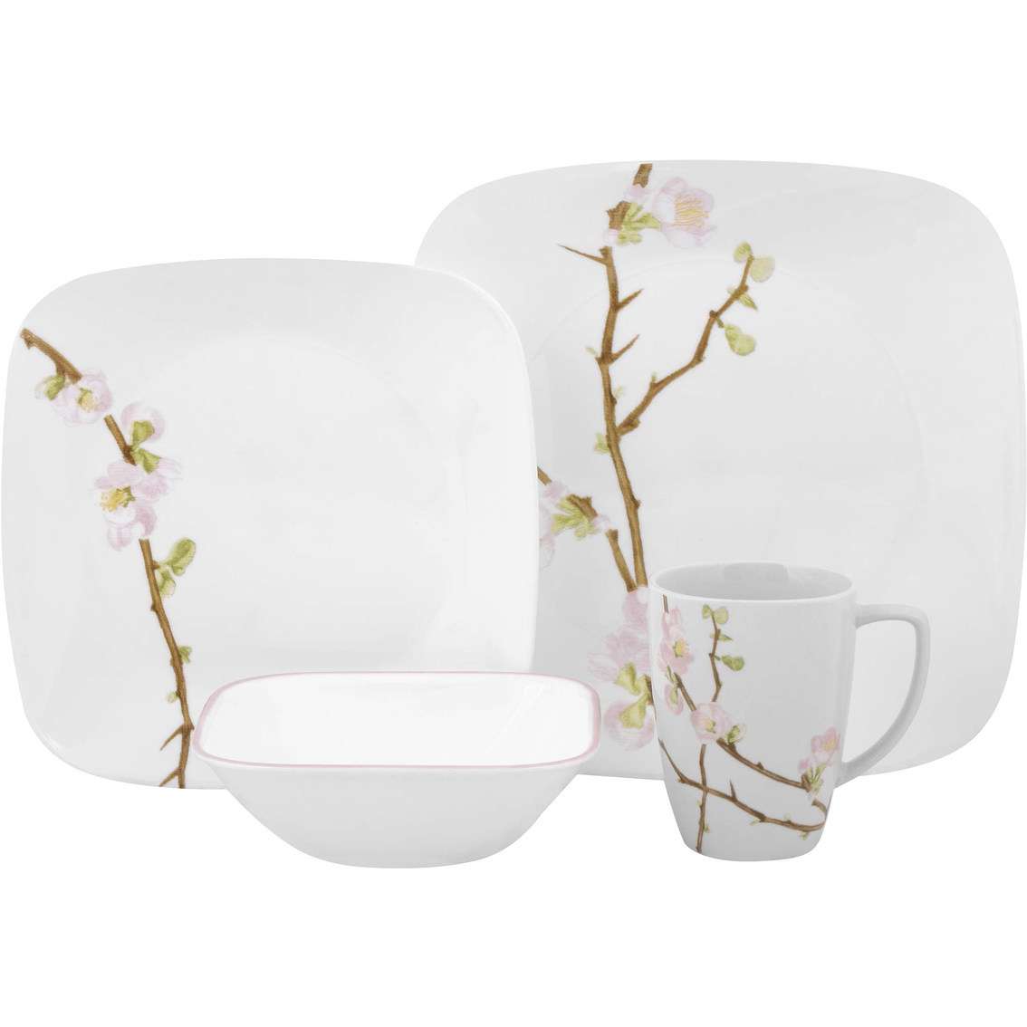 corelle cherry blossom 16 pc dinnerware set dinnerware sets home appliances shop the. Black Bedroom Furniture Sets. Home Design Ideas
