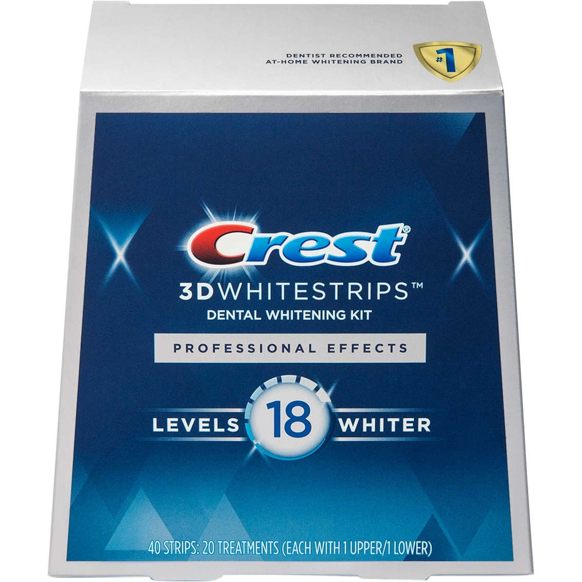 Crest 3d White Professional Effects Whitestrips 20 Count Teeth