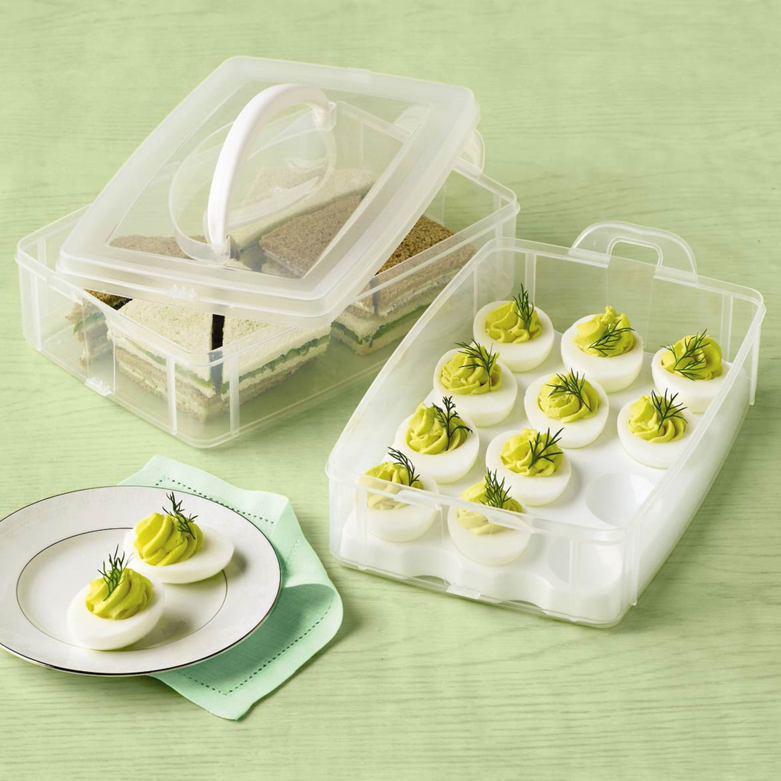 martha stewart collection deviled egg carrier canisters blitsy crafts