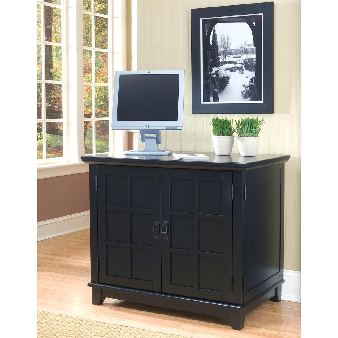 Home Styles Arts And Crafts Compact Computer Cabinet