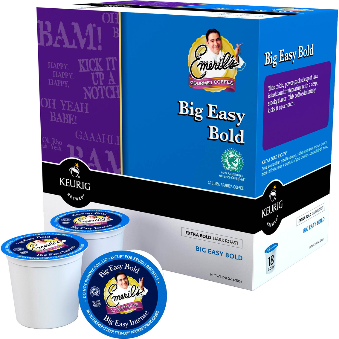 Emeril S Easy Bold Extra Dark Roast Coffee Keurig K Cup 18
