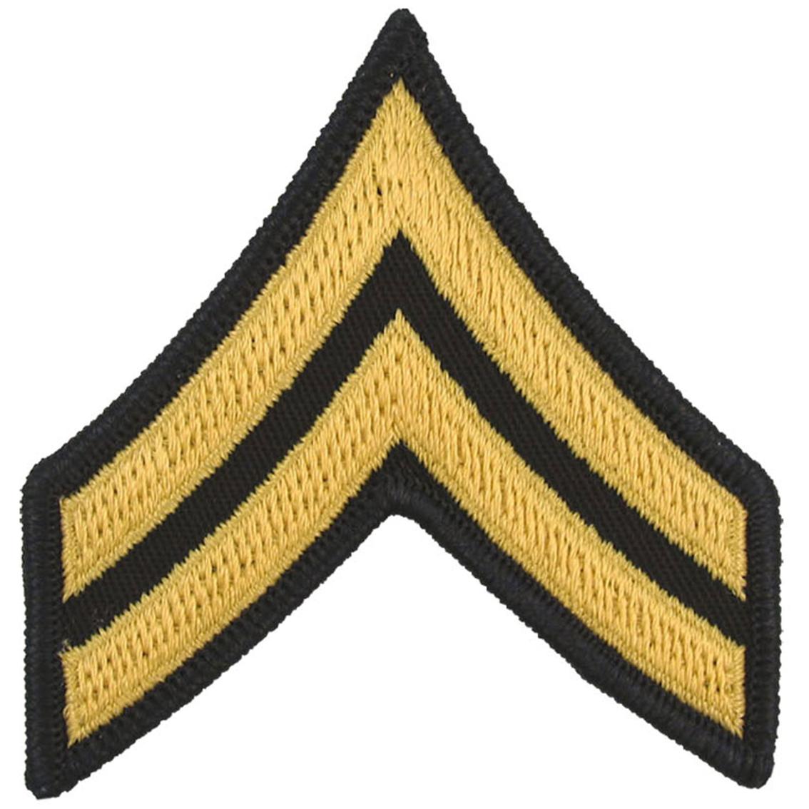 Army Rank Cpl Large Asu Sew-on | Large Asu Rank | Military | Shop ...