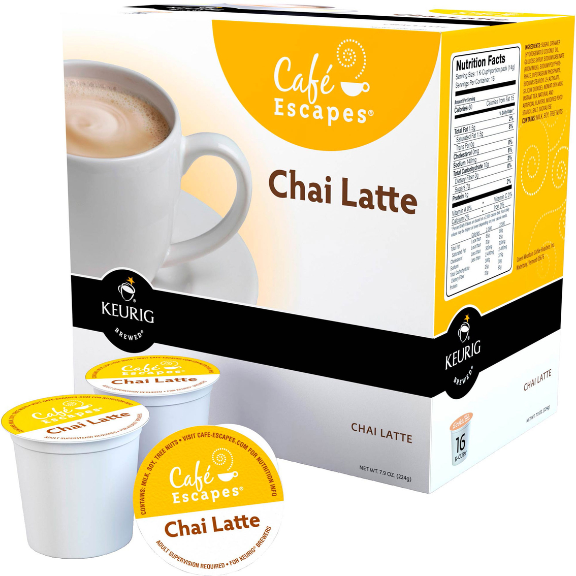 Cafe Escapes Chai Latte Keurig K-cup