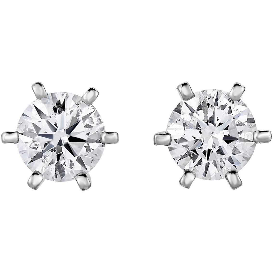 14k Gold 1 2 Ctw Diamond Solitaire Stud Earrings