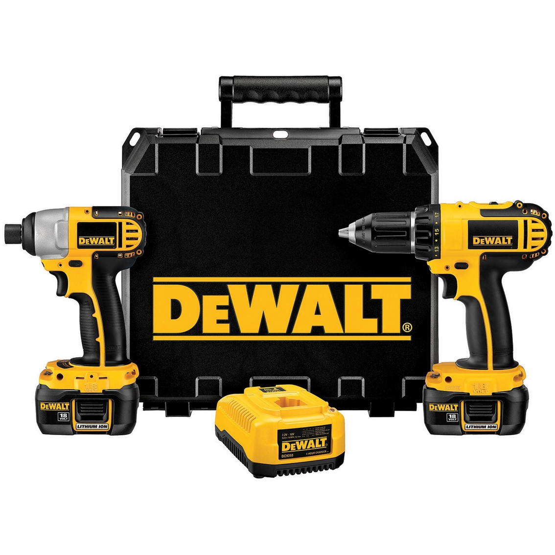 Dewalt 18v Cordless Compact Rechargeable Drill Impact